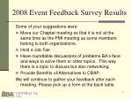 2008 event feedback survey results1