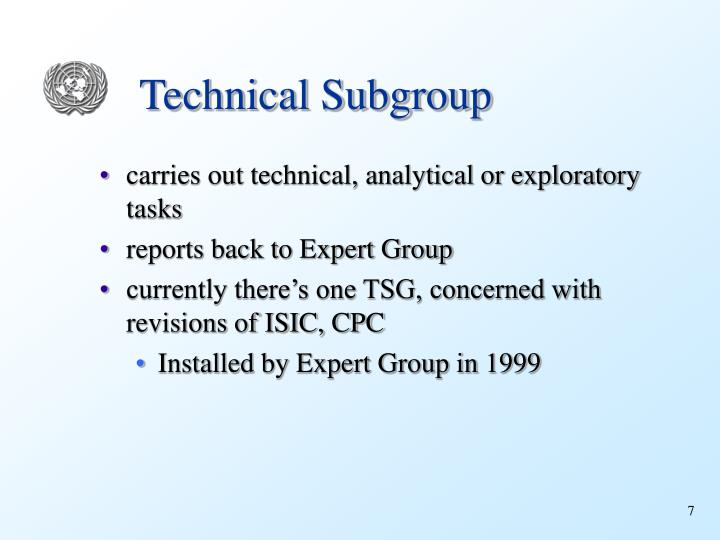 Technical Subgroup