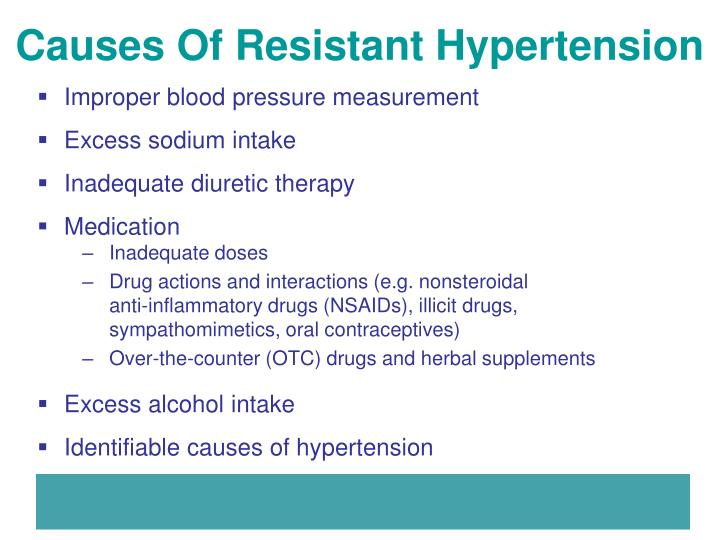Causes Of Resistant Hypertension