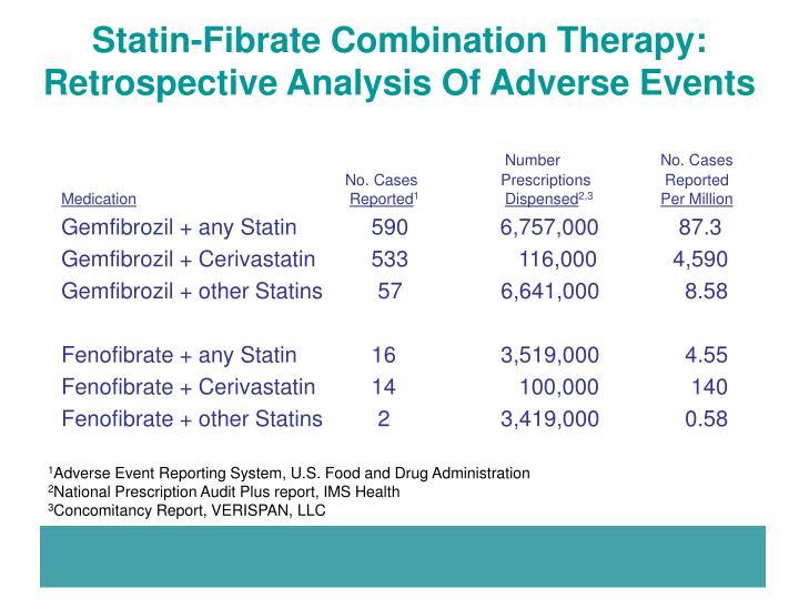 Statin-Fibrate Combination Therapy: