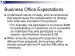 business office expectations3