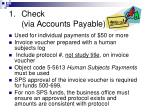 check via accounts payable