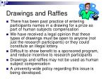 drawings and raffles