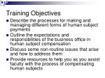 training objectives1
