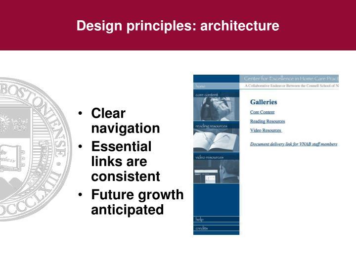 Design principles: architecture