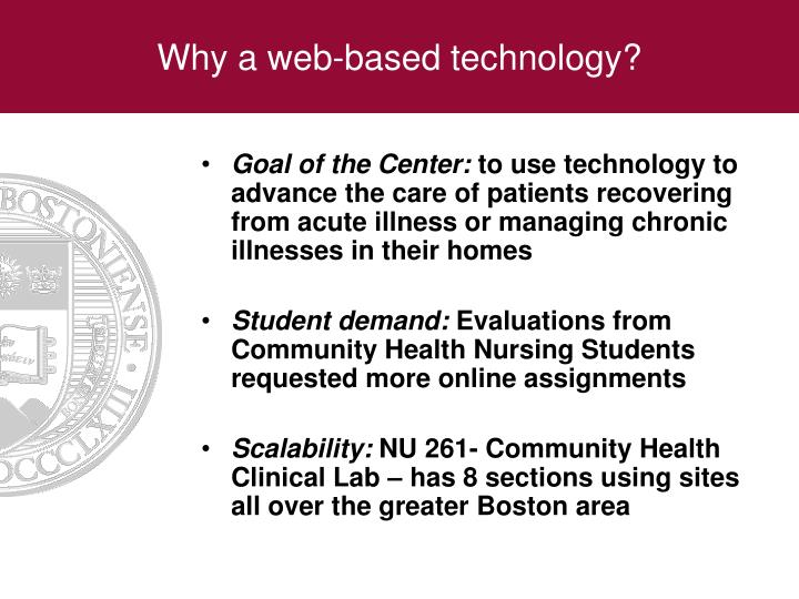 Why a web-based technology?