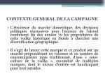 contexte general de la campagne