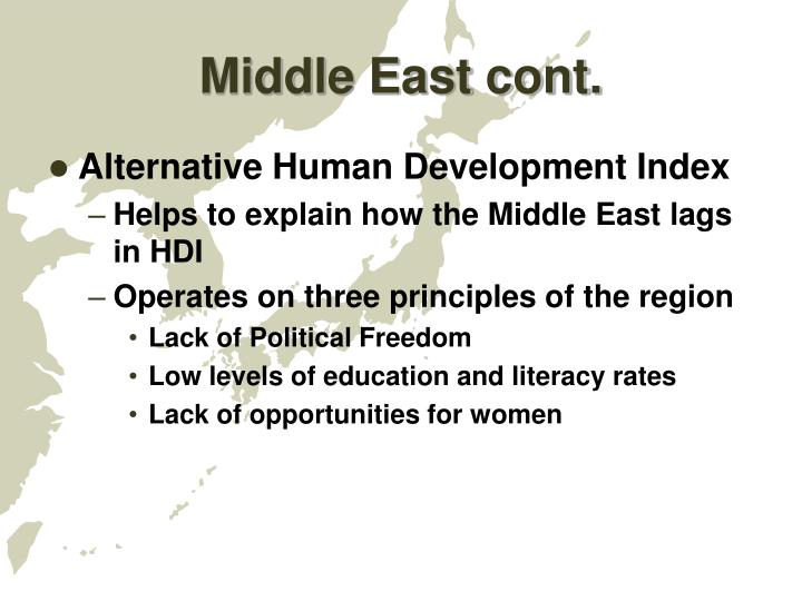 Middle East cont.