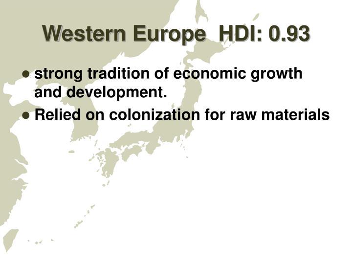 Western europe hdi 0 93