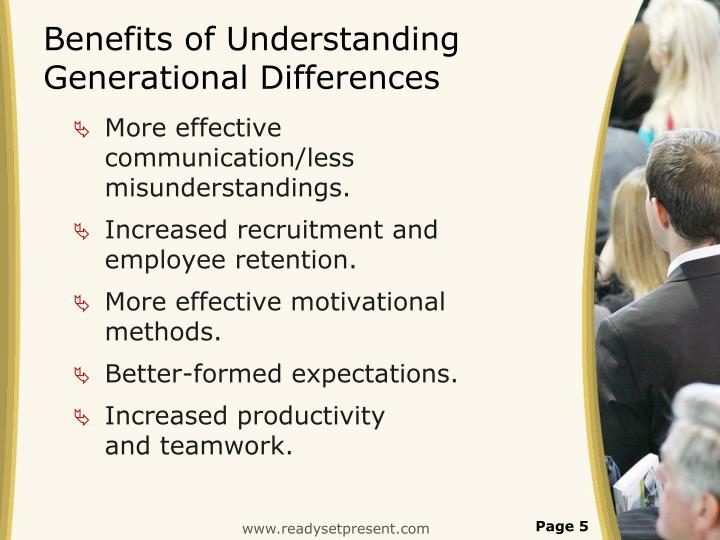 understanding and managing generational differences Visit the web sites listed below to learn more about generational differences generational differences chart at: generational differences activity.