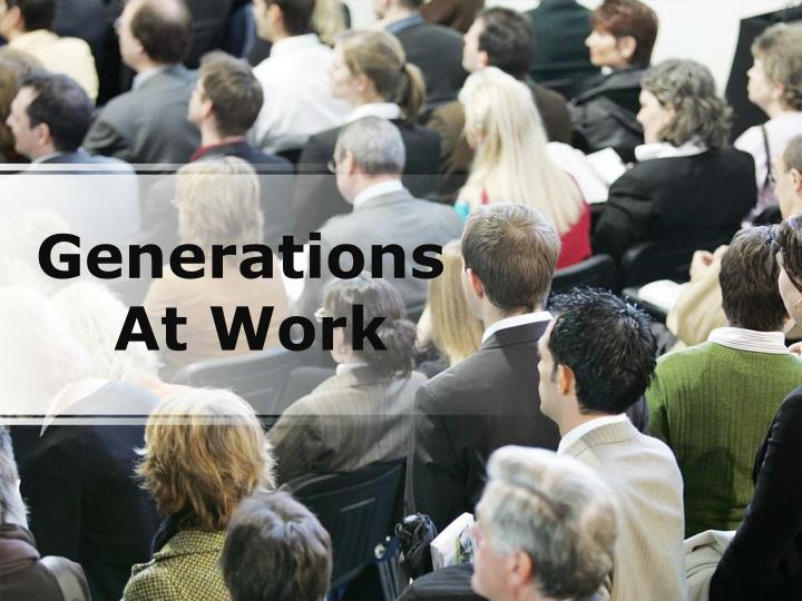 generations at work n.