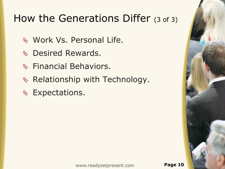How the Generations Differ