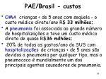 pae brasil custos
