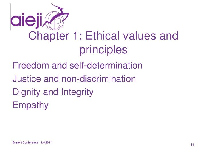 Chapter 1: Ethical values and principles