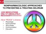 nonpharmacologic approaches to preventing treating delirium