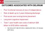 outcomes associated with delirium