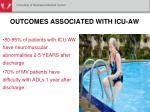 outcomes associated with icu aw