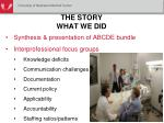 the story what we did