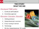 the story what we did1