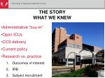 the story what we knew