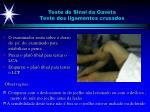 teste do sinal da gaveta teste dos ligamentos cruzados