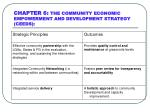 chapter 6 the community economic empowerment and development strategy ceeds
