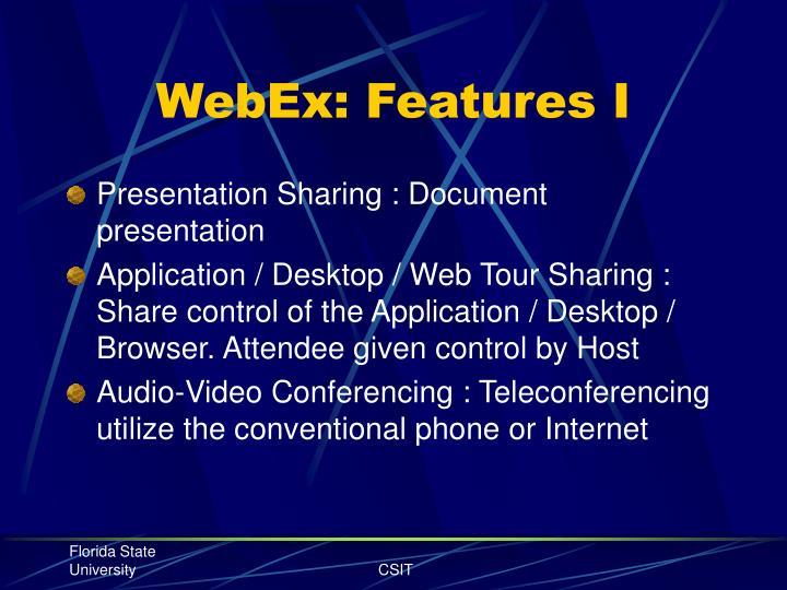 Webex features i