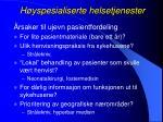 h yspesialiserte helsetjenester5