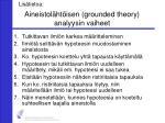 aineistol ht isen grounded theory analyysin vaiheet