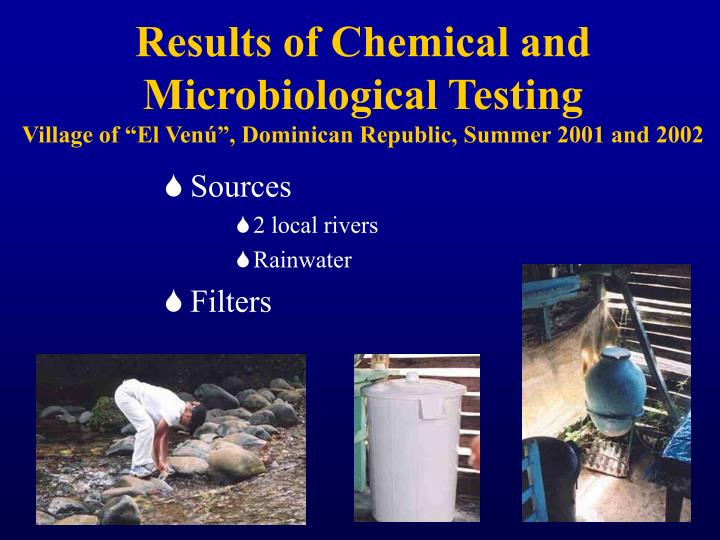 Results of Chemical and Microbiological Testing