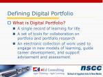 defining digital portfolio
