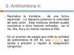 3 antitrombina iii
