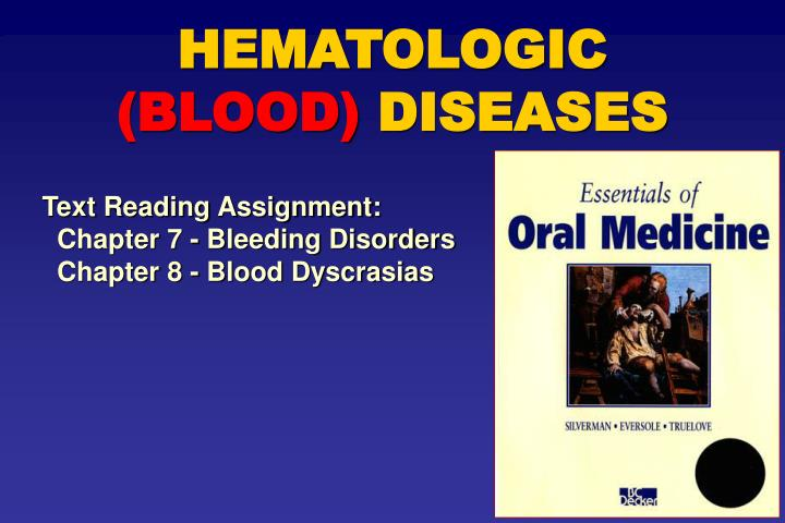 hematologic blood diseases n.