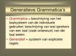 generatieve grammatica s