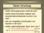 taken fonoloog6