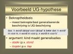 voorbeeld ug hypothese