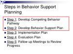 steps in behavior support planning