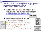 which of the following are appropriate replacement behaviors1