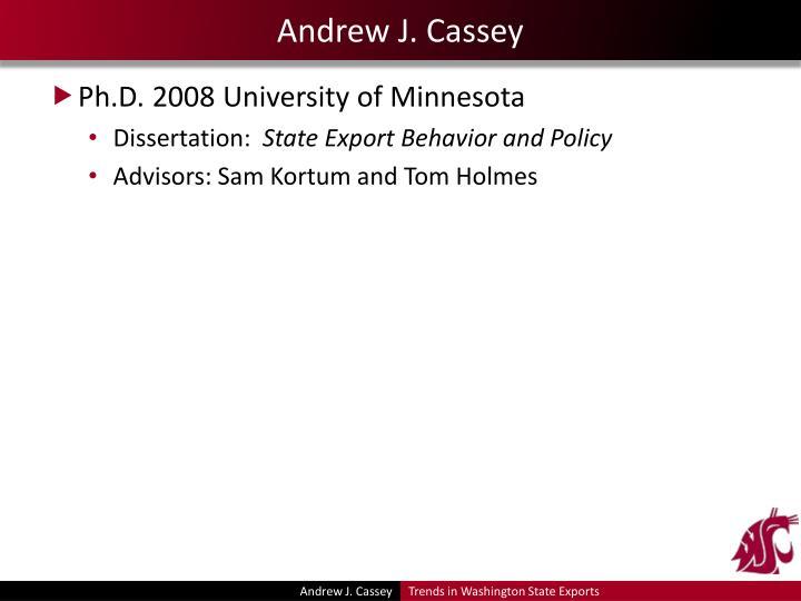 Andrew j cassey