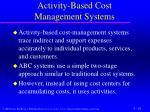activity based cost management systems1