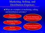 marketing selling and distribution expenses1