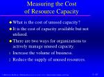 measuring the cost of resource capacity2
