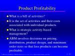 product profitability1