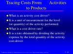 tracing costs from activities to products1