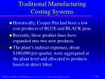 traditional manufacturing costing systems1