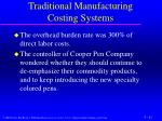 traditional manufacturing costing systems2