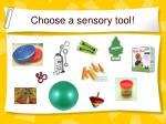 choose a sensory tool