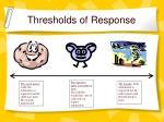thresholds of response