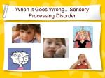 when it goes wrong sensory processing disorder