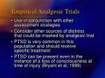 empirical analgesic trials